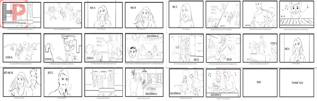 Vẽ Storyboard Dịch Vụ Quay Phim Quảng Cáo